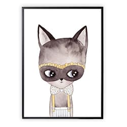 Gifts For A 2 Year Old Girl Masked Cat Poster
