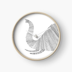 Gifts For Elephant Lovers Wall Clock