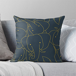 Gifts With Elephants Throw Pillow