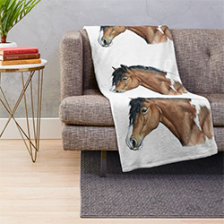 Horse Themed Gifts Throw Blanket