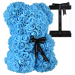 Cool Blue Gifts Rose Bear