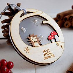 Cool Hedgehog Gifts Christmas Bauble
