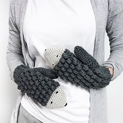 Creative Hedgehog Themed Gifts Mittens