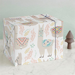 Cute Llama Gift Ideas Wrapping Paper