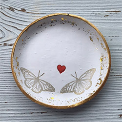 Amazing Butterfly Presents Jewelry Dish
