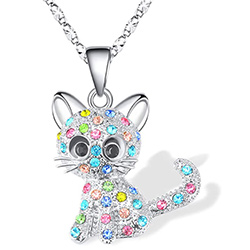 Cat Pendant Colorful Kitty