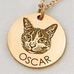Kitten Necklaces Engraved Tag